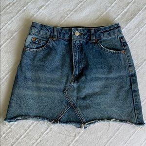 Topshop High-Waisted Denim Mini Skirt